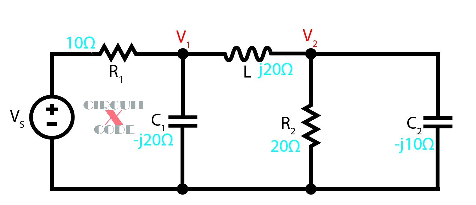 nodal analysis for ac circuits