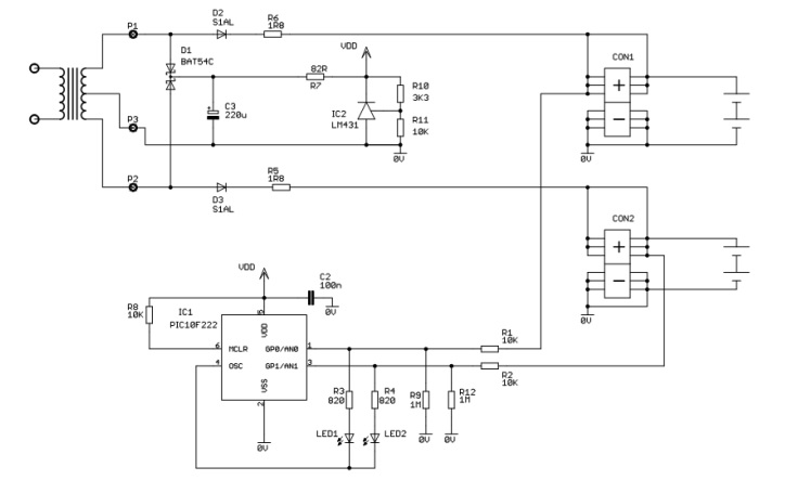 Intelligent trickle charger circuit